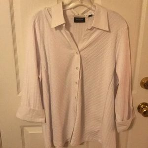 White button up shirt Plus size